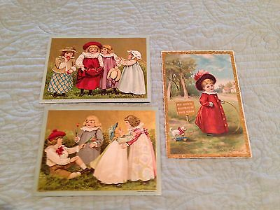 LOT 3 1880'S McLaughlin's XXXX Coffee Card  NO DOGS IN PARK GATHERING APPLES