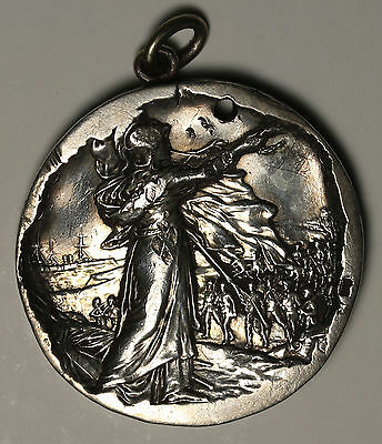 1899 Queens South Africa Sterling Silver Medal Boer War RARE