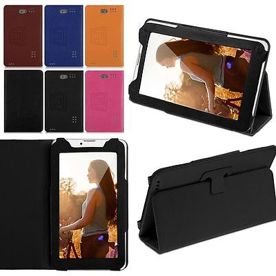 "Universal Leather Folding Case Cover Flip Stand for 7"" Inch Android Tablet PC AU"