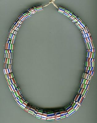 African Trade beads Vintage Venetian glass 2-5 layer striped chevrons old