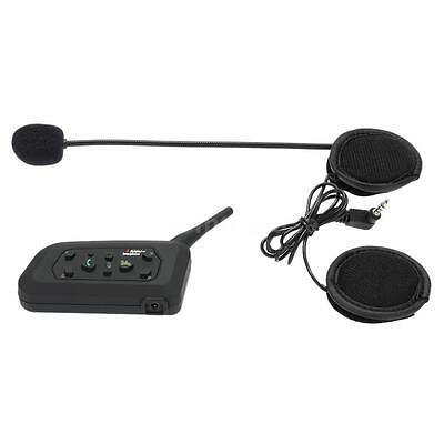 V6 BT Bluetooth Motorcycle Helmet Intercom Headsets for 2 to 6 Riders 1200M E9A1