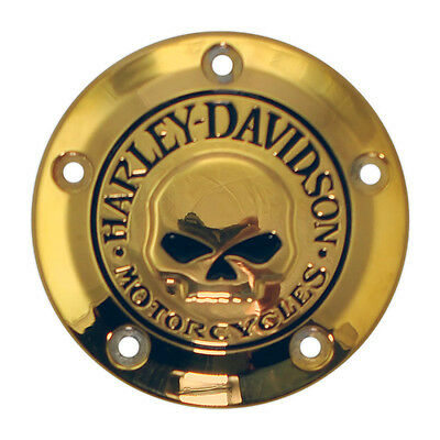 Harley-Davidson Willie G Skull 24 Carat GOLD Plated Timer Cover - Twin Cam