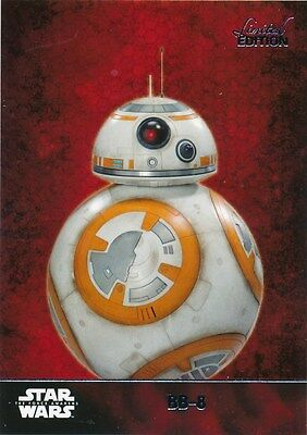 #6 BB-8 Topps Star Wars Force Awakens 1 LIMITED EDITION