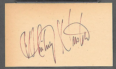 Whitney Houston Autograph Reprint Appears Authentic On Old 3x5 Card