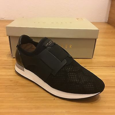 573cf6e4a TED BAKER WOMEN S Kygoa Embossed Suede Slip-on Sneakers in Black ...