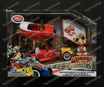 DISNEY Store MICKEY & Roadster Racers MICKEY MOUSE Transforming Pullback NEW