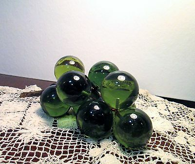 Vintage Mid Century Green Acrylic Lucite Grapes Retro Grape Cluster