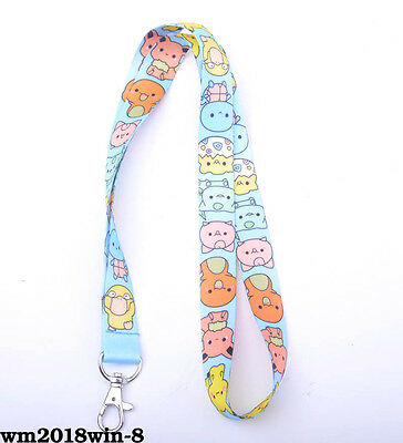 New 1pc Neck Strap Lanyard Mobile ID Key Card Holder Keychain Pokemon Squirtle