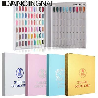 Display Book 120 Nail Tip Colour Chart White For Nail Art UV/LED Gel Tips Polish
