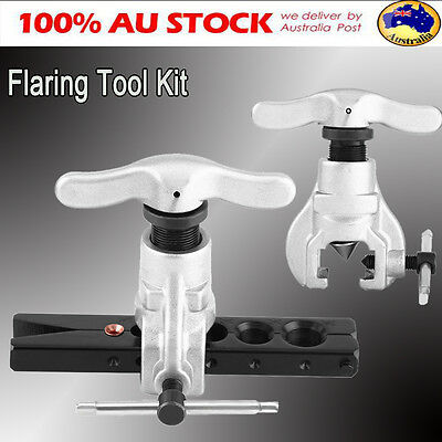 """Flaring Flare Tool Kit Refrigeration Ratchet Pipe Tube Eccentric Cone 1/4"""" 3/8"""""""