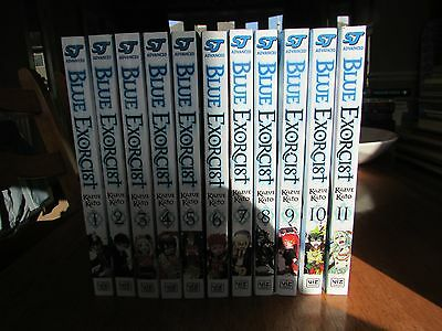 Blue Excorcist Volume 1,2,3,4,5,6,7,8,9,10,11