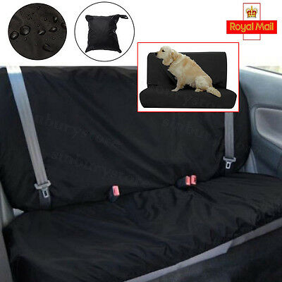 Waterproof Car Rear Back Seat Cover Pet Protector Universal Fit Heavy Duty UK