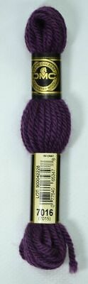 DMC TAPESTRY WOOL, 8m SKEIN, Colour 7016 VERY DARK GRAPE