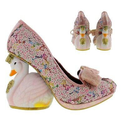 Irregular Choice Savan Swan Heel Womens Wedding Party Shoes Size UK 6.5 (40)
