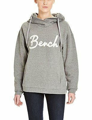 Grau (Mid Grey Marl GY001X) (TG. Small) Bench Impulsion, Felpa Donna, Grau (Mid
