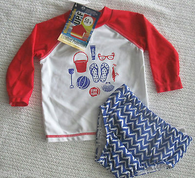 RED Swim Nappy Baby Boys Bathers BNWT Size 000 00 0 1 2 UPF 50+ ** Free Post**