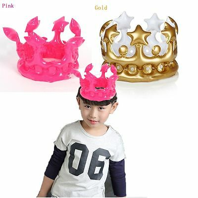 Party Kids Balloon Birthday Hat PVC Inflatable Crown
