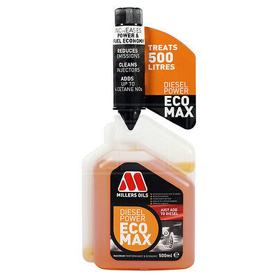 Millers Oils 6204KB Diesel Power Eco Max Fuel Additive Treatment 500ml
