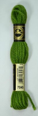 DMC TAPESTRY WOOL, 8m SKEIN, Colour 7045 AVOCADO GREEN