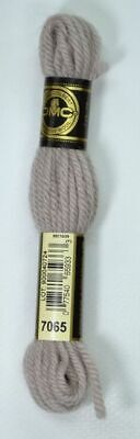 DMC TAPESTRY WOOL, 8m SKEIN, Colour 7065 MEDIUM SHELL GREY