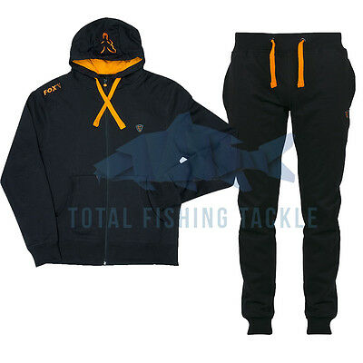 Fox NEW Lightweight Black And Orange Zipped Hoody And Joggers *All Sizes*