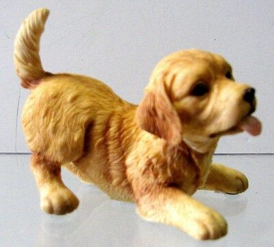 COUNTRY ARTISTS Playful  GOLDEN  RETRIEVER PUPPY #03487 New/ExcllntCndtn/Perfect