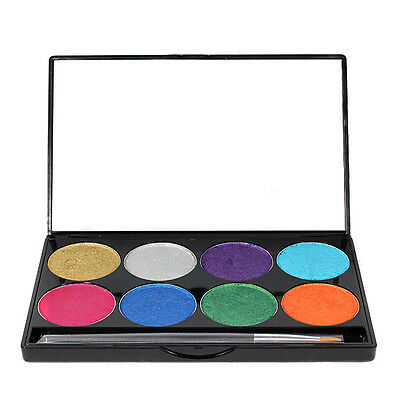 Mehron Paradise Palette Cake Water Activated Face Body Painting Stage Makeup