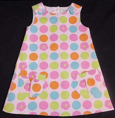 George baby dress girl spotty bright funky 6-9 months