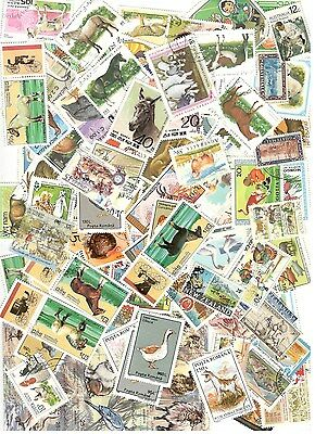 100 Farm Animals Stamps All Different Nice Lot