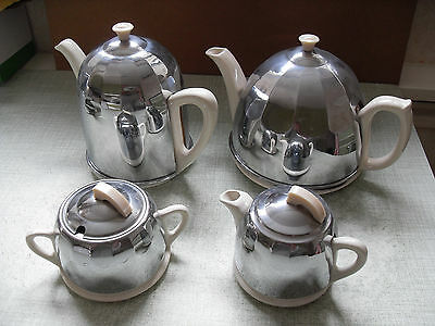 1950's VINTAGE / RETRO CELTIC CHROME TEA SERVICE - VERY GOOD CONDITION