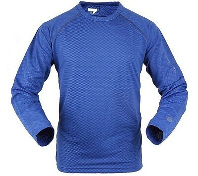 SALOMON M BLUE - Long Sleeve Hiking Quick Dry T Shirt Men ultraviolet protection