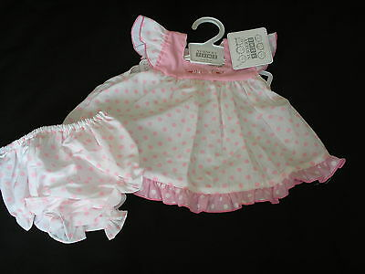 Premature Preemie Baby Girl Clothes  Dress and Knickers Pink 5-8lb 8-10lb reborn