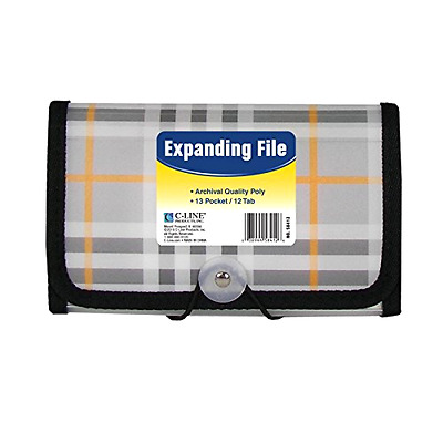 Office School Expanding Poly File Jacket 13 Pocket Organizer Coupon Receipt Easy