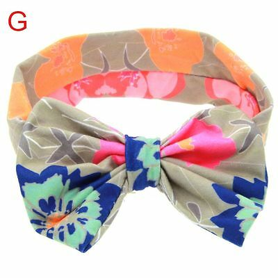 Floral Butterfly Bow Newborn Turban Knot Headband Hair Band For Infant/Baby