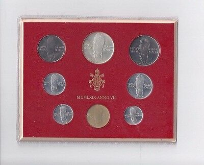 Vatican Coins Official Mint Set 1969 Anno 7