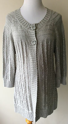 Women's Size Large L Oh Baby By Motherhood Gray Ramie/Acrylic Maternity Sweater