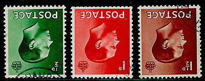 SG 457Wi-459Wi, COMPLETE SET, VERY FINE used, CDS. Cat £11. WMK INVERTED.