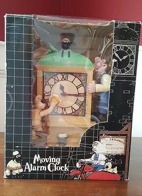 Wallace & Gromit Moving Musical Alarm Clock Shaun The Sheep Wesco  Orig Box 1998