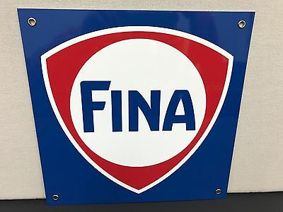 Fina oil  gasoline racing metal advertising sign formula 1 f1