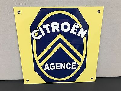 Citroen agence garage gas oil racing advertising sign retro
