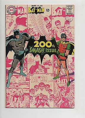 DC - Batman - No 200 -  1968 - VF+ - KEY ISSUE - SCARCE!! NEAL ADAMS COVER!!
