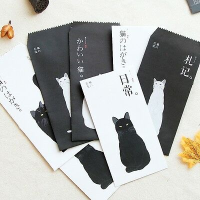 15X Envelopes 30X Writing Letter Papers Cat Retro Stationery Set Cute Japan Cute