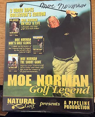 Moe Norman signed Golf Legend Autographed Collectors Edition - Unopened! RARE!!!