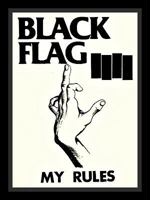 "3.25"" BLACK FLAG Punk rock show Sticker. 80's Rollins, Anarchy for guitar, bong1"