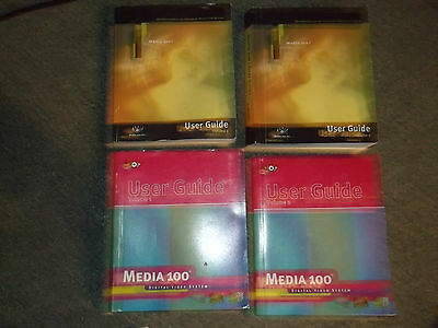 Media one and Boris video software with books and manuals