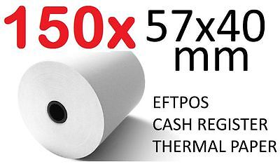150x THERMAL PAPER EFTPOS CASH REGISTER RECEIPT ROLLS 57MM x 40MM Lot 150 pcs