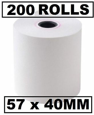 200 THERMAL PAPER EFTPOS CASH REGISTER RECEIPT ROLLS 57x40 mm 200 pcs 57.40 mm