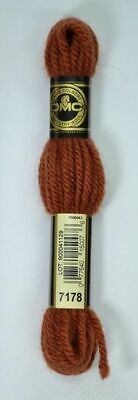 DMC TAPESTRY WOOL, 8m SKEIN, Colour 7178 DARK RED COPPER