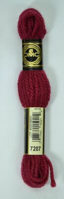 DMC TAPESTRY WOOL, 8m SKEIN, Colour 7207 VERY DARK ROSE