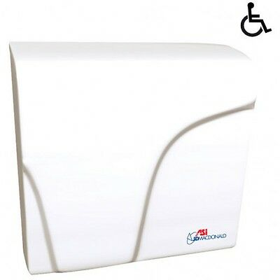 JD Macdonald Hand Dryer Applause Plus Commercial in White 3Y Warranty 1001652